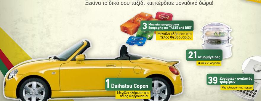 Διαγωνισμος με δωρο αυτοκινητο Daihatsu Copen Cabrio 1.3 87HP